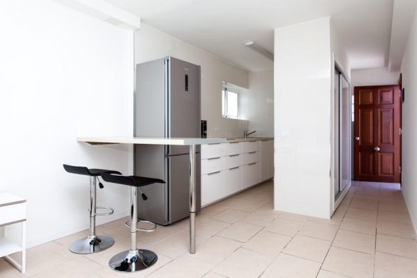 kitchen of studio accommodation in Corralejo