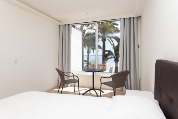 Studio accommodation with seaview in surf camp on the canaries