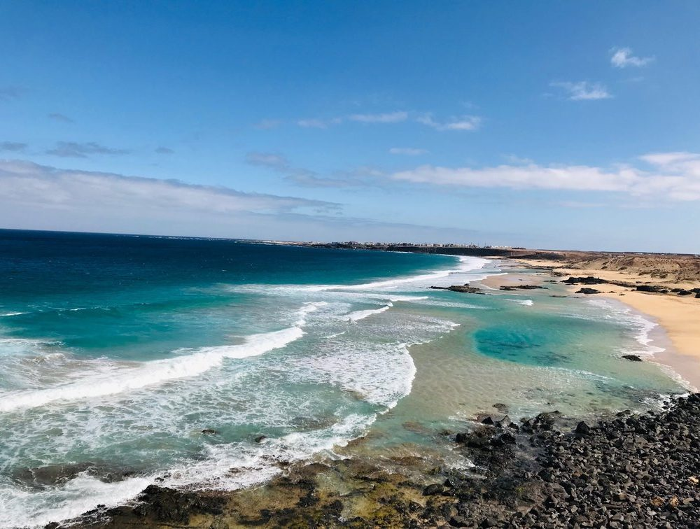beautiful sandy beach in Fuerteventura