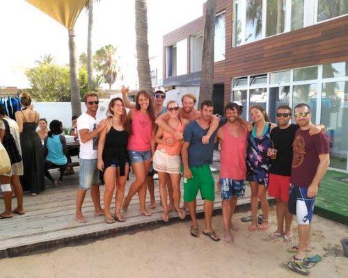 group of people in surf camp corralejo fuerteventura